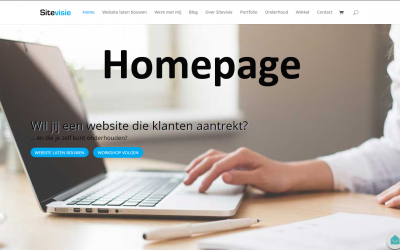Pagina als Homepage instellen