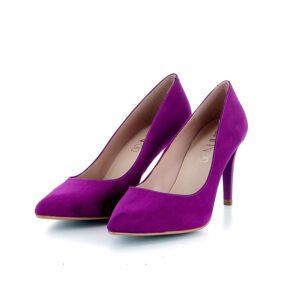 paarse schoenen en marketing