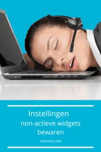 Instellingen van non-actieve widgets bewaren